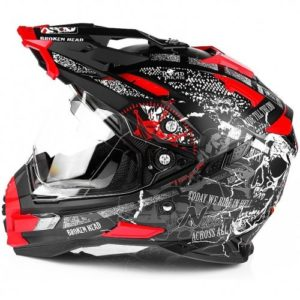 Endurohelm Broken Head Road Pirate Enduro rot matt