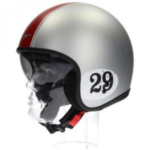 Jet Helm Moto Guzzi Jet Racing 29 Cromo Matt