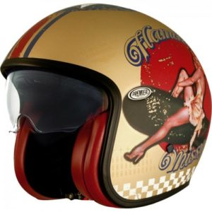 Jet Helm Premier Vintage Pin UP Gold BM