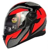 Airoh Motorradhelm Movement S Steel Orange Integral