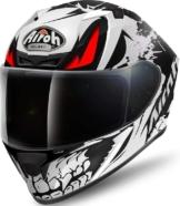 Airoh Valor Bone Motorradhelm Helm Integralhelm Schwarz Weiß Gr. S - XXL