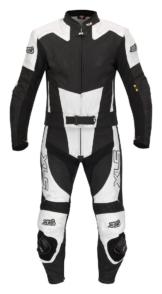 Black-White-Arrow Bundle Lederkombi + Stiefel + Handschuhe