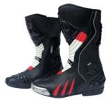 Motorradstiefel von XLS Racing Boots | Touringstiefel Schwarz Weiß Rot