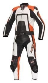 Orange Edition Lederkombi + Stiefel + Handschuhe